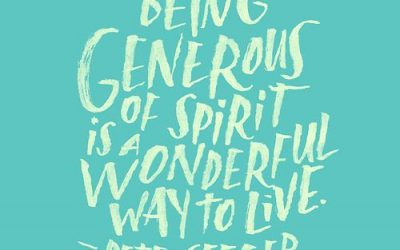 The Generosity of Seeing and Receiving